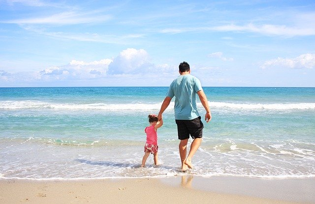 Daughter and Father at Beach